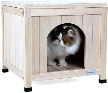 Petsfit Indoor Wooden Pet House For Small Dogs