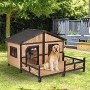 Best 3 Double (Dual) Dog Houses For 2 Dogs In 2021 Reviews