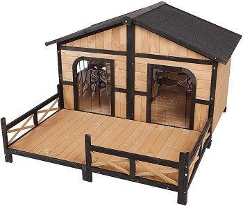 PawHut Wooden Large Dog House