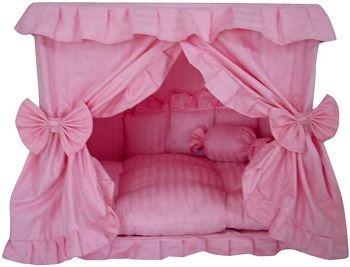 Princess Pink Pet Dog Handmade Bed House