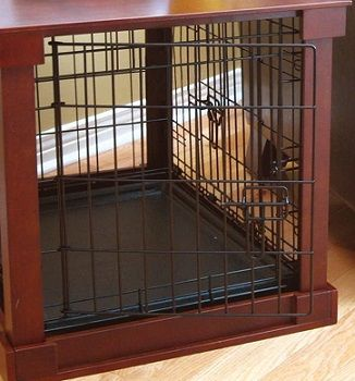 Wooden Mobile Dog Pet Cage review