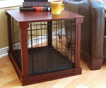 Wooden Mobile Dog Pet Cage